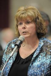 Rep. Sandy Crawford leads the fight to override the veto on Senate Bill 749.